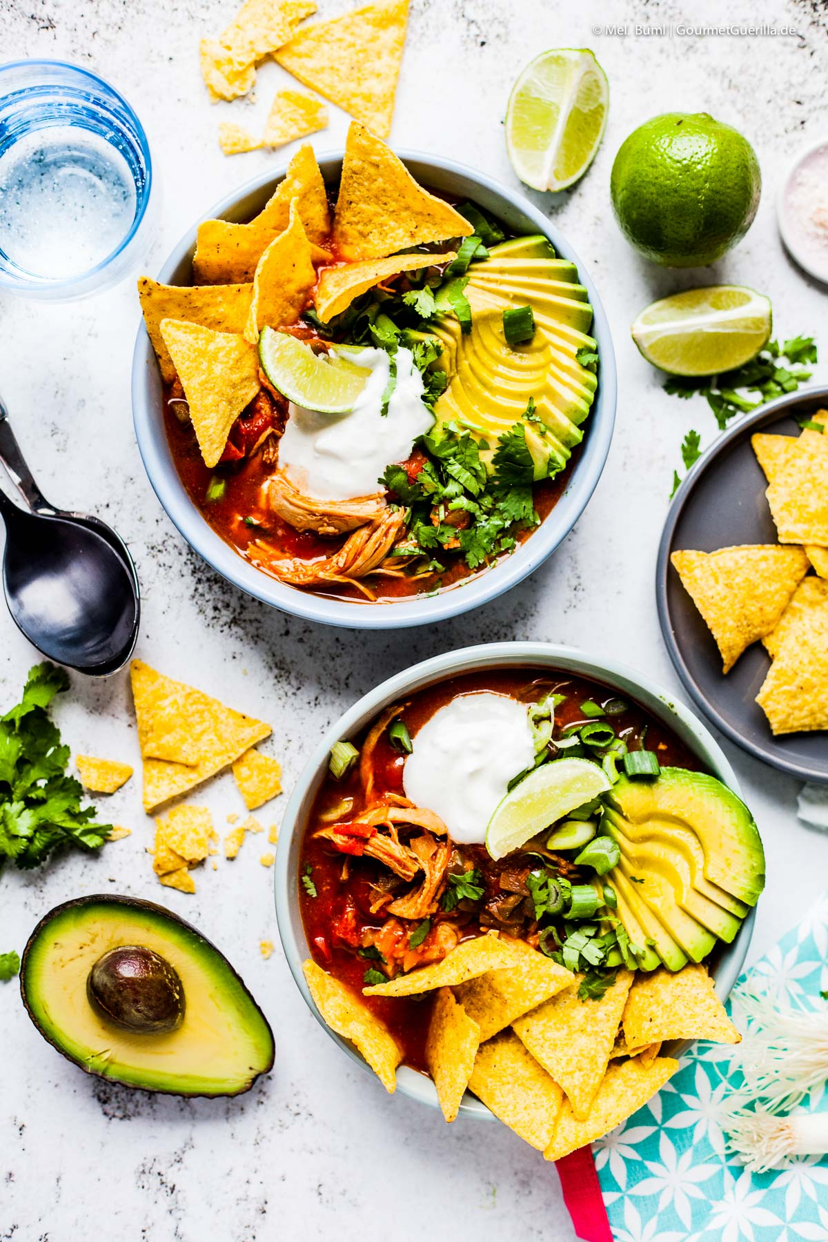 Mexican tortilla soup with avocado and chipotle | GourmetGuerilla.com